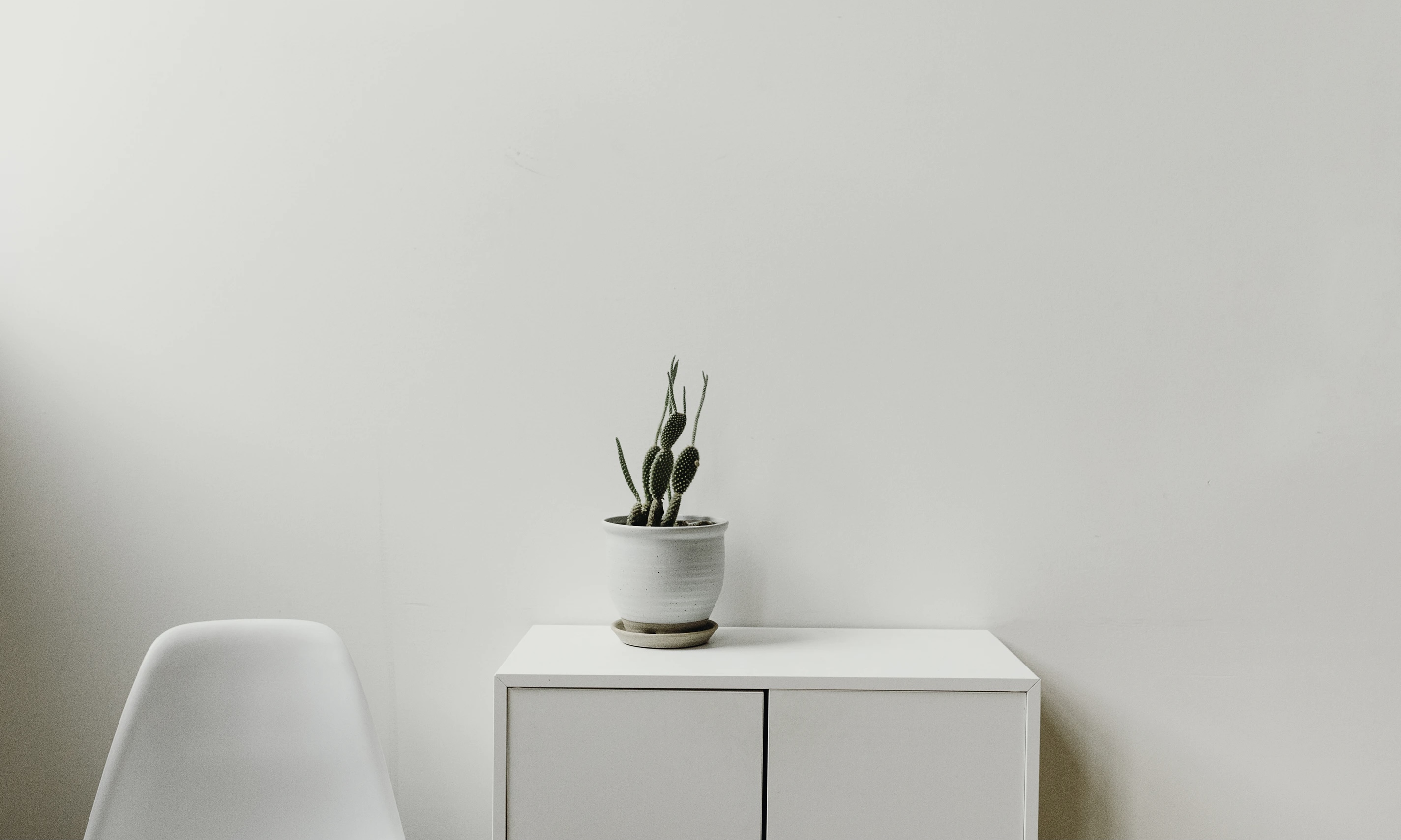 Green Plan on White Cabinet